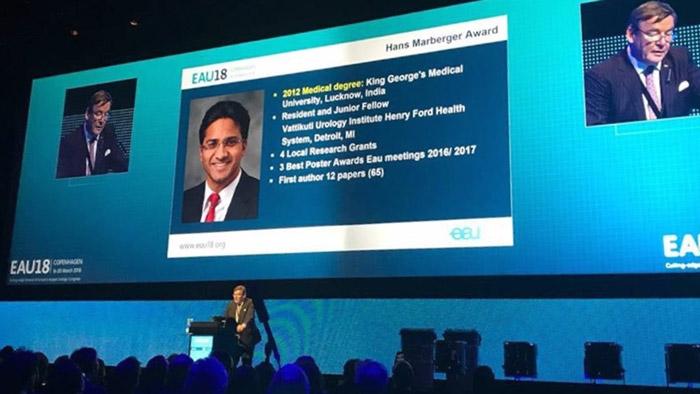 Deepansh Dalela Vattikuti Urology International Fellow (Hans Marberger Award) by European Urology Association
